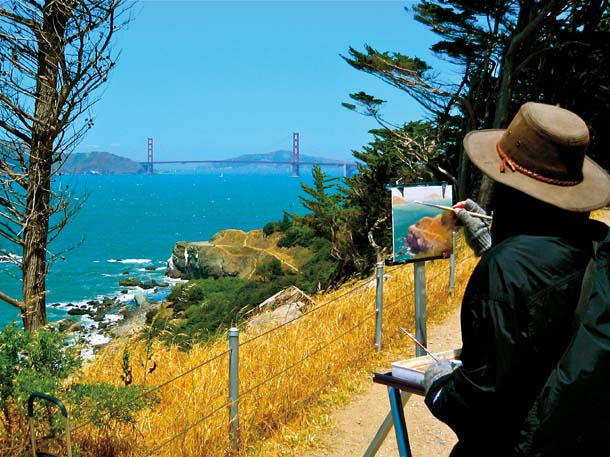 Painter at Lands End