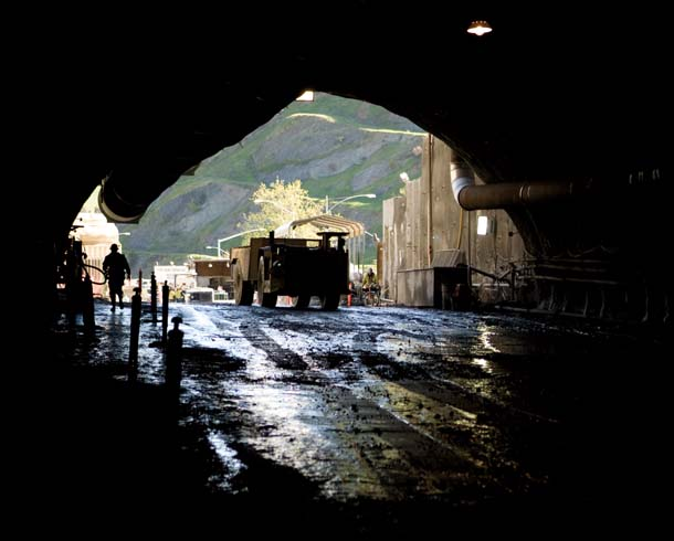 View from inside new Caldecott Tunnel