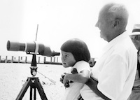 Judy and her grandfather spotting birds