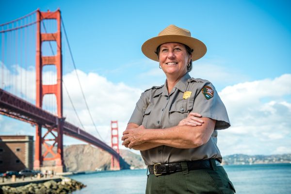 Golden Gate National Recreation Area Superintendent Chris Lehnertz photographed at Fort Point, San Francisco on October 1, 2015. Photo by Paul Myers, Parks Conservancy.
