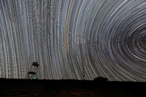 star tracks in the Andes